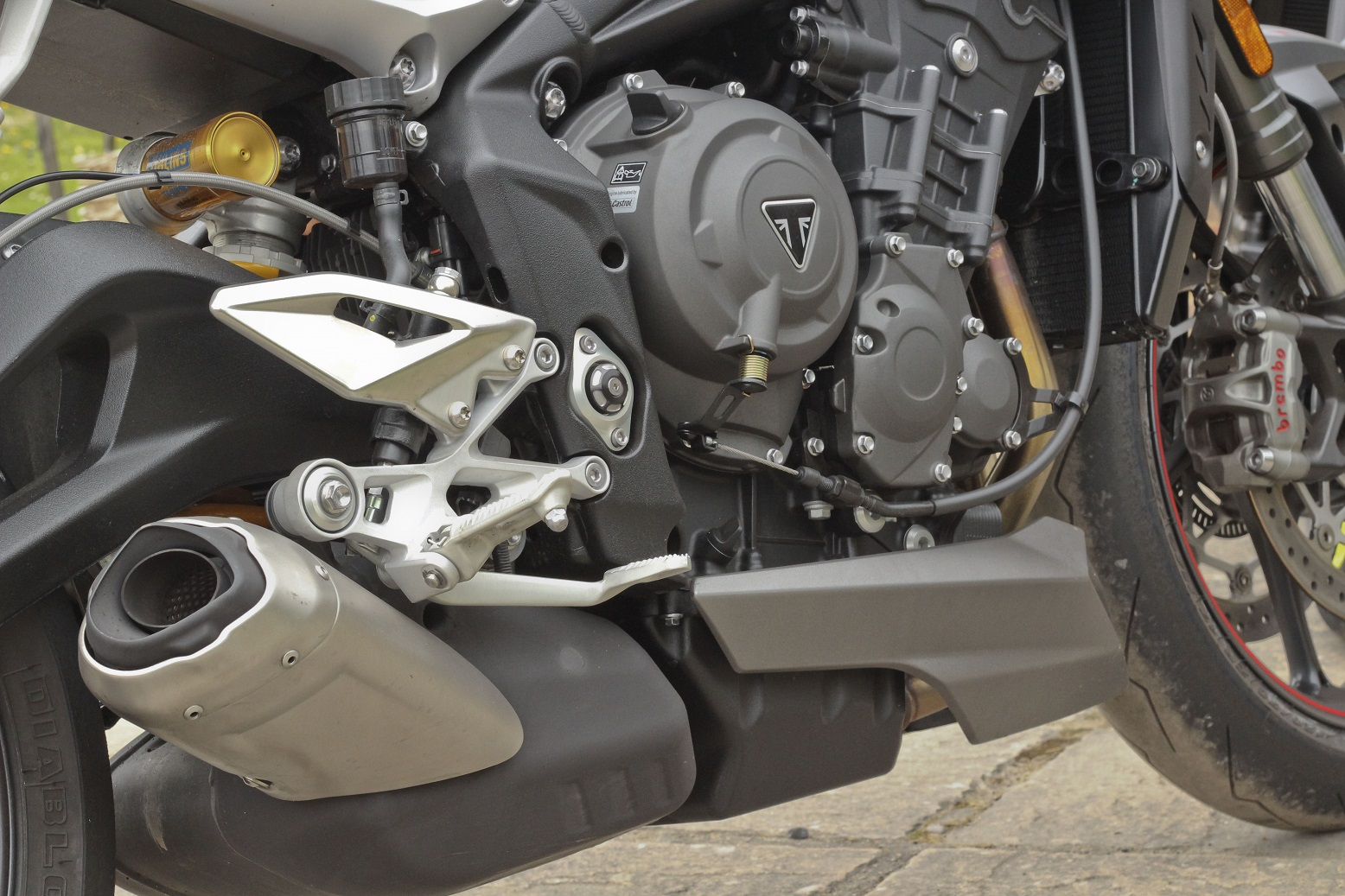 Triumph Street Triple 765 RS engine