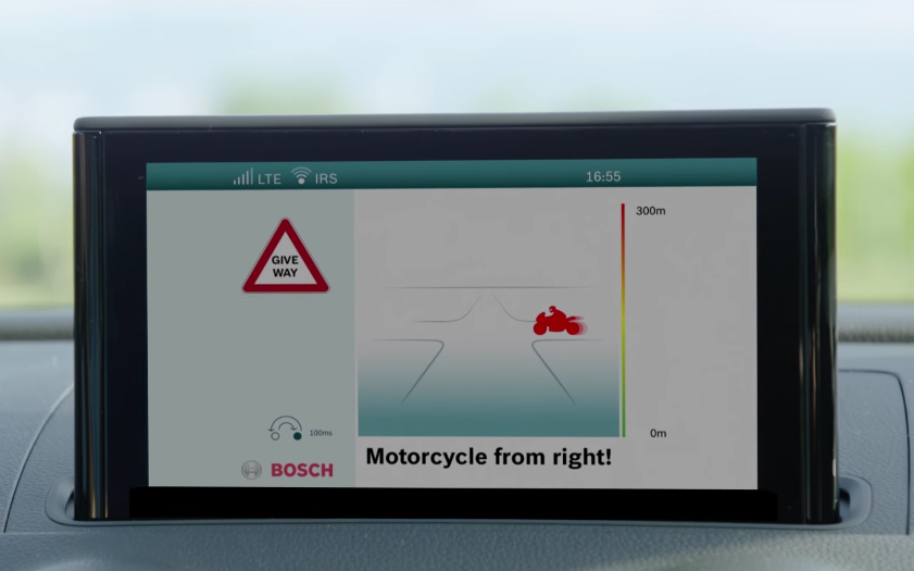 Bosch motorcycle-to-vehicle communication technology