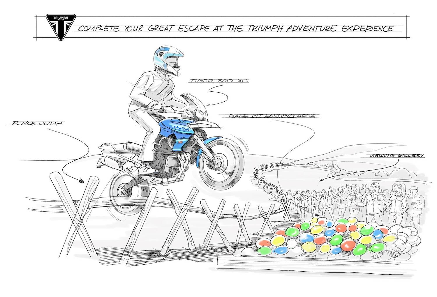 Triumph Adventure school in WalesApril Fool