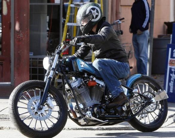 Brad Pitt spied on new Roland Sands ride