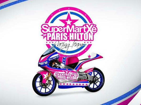 Paris Hilton's GP team livery revealed