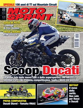 Ducati's 2012 superbike spied