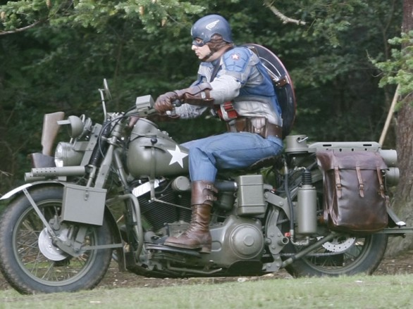 Harley's Captain America Liberator on display
