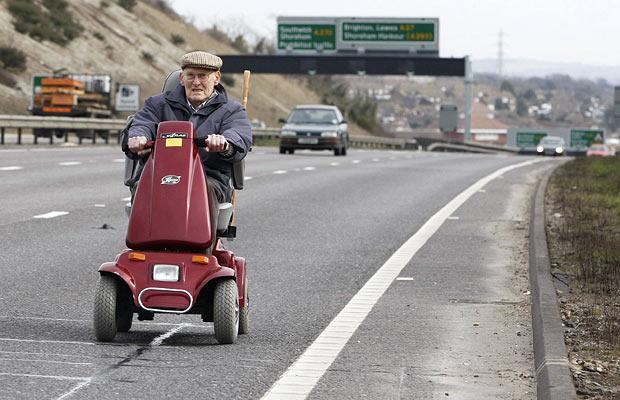 Four times as many pensioners on the roads