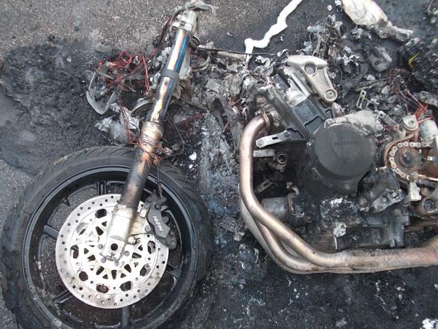 Arsonists torch Honda Fireblade