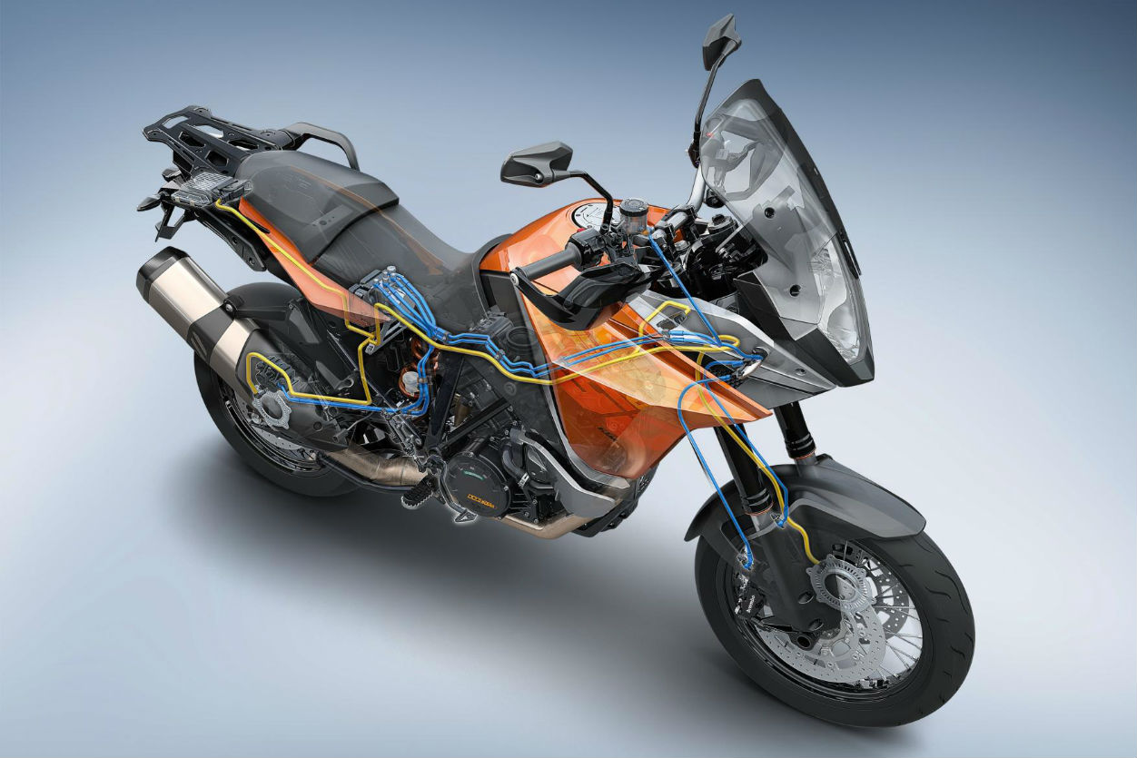 KTM's new stability control system can be added to 2013 bikes