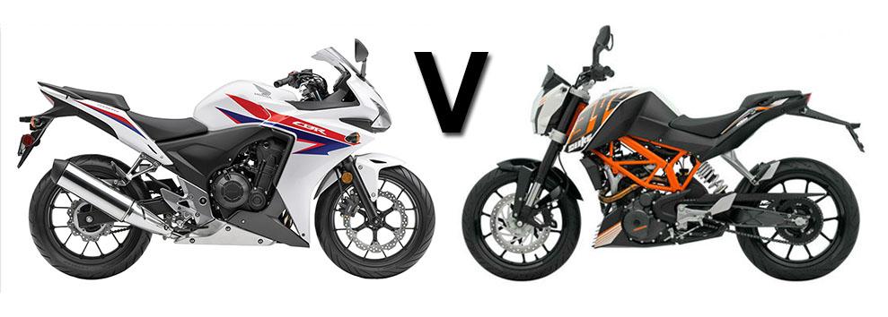 Versus: Honda CBR500R vs KTM Duke 390