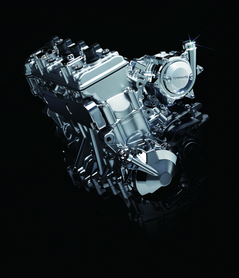 Kawasaki's supercharged four-cylinder engine