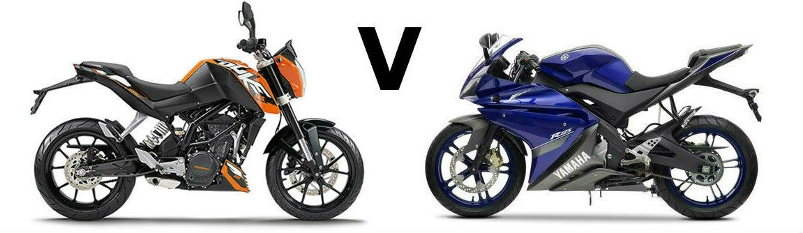 Versus: KTM Duke 125 vs Yamaha YZF-R125