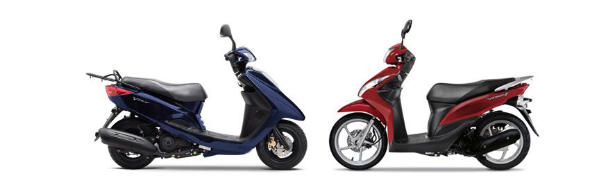 Versus: Yamaha Vity 125 vs Honda Vision 110