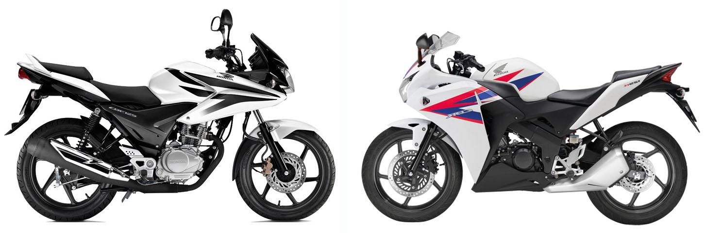 Versus: Honda CBF125 vs Honda CBR125
