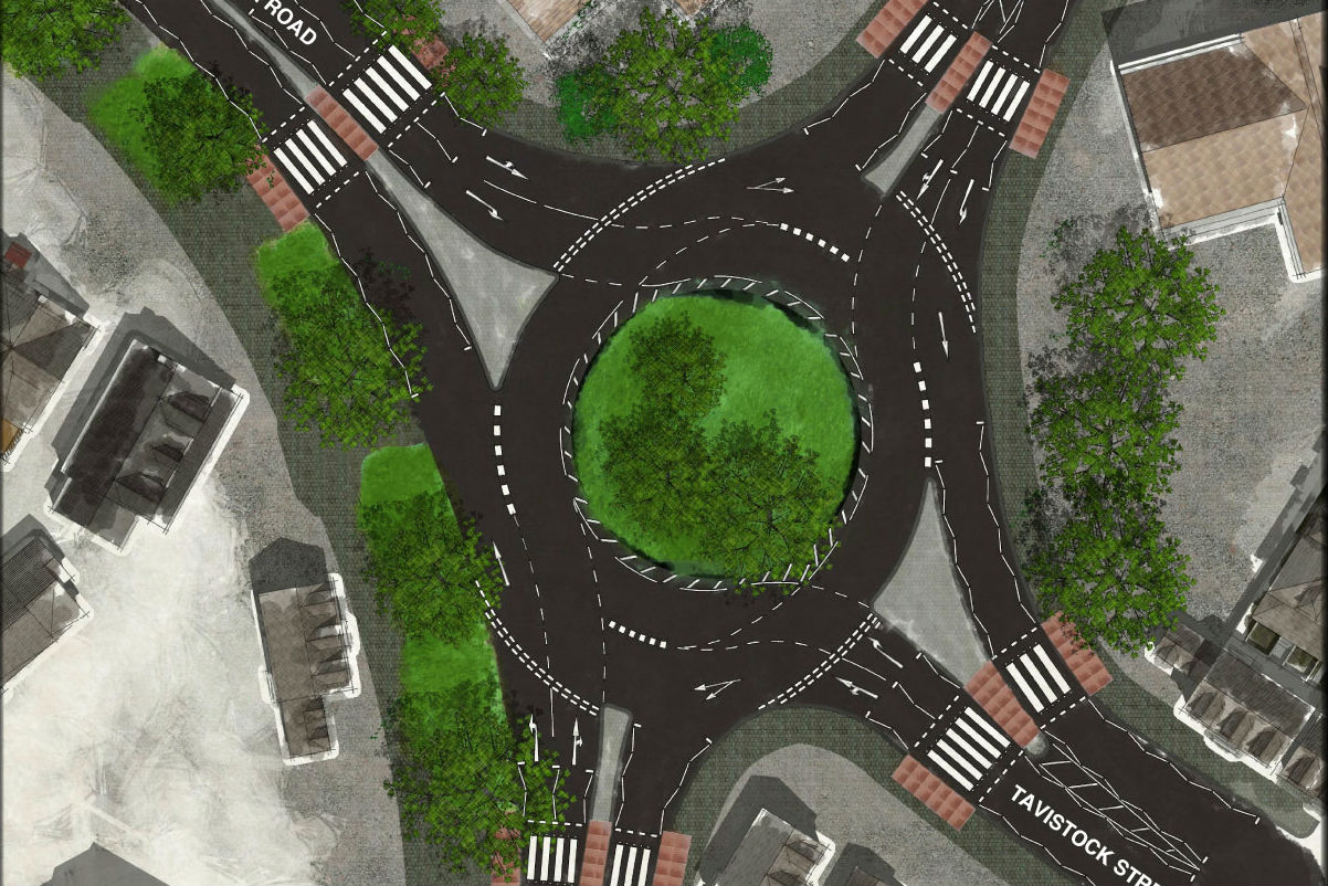 Plans for kerbs between roundabout lanes halted
