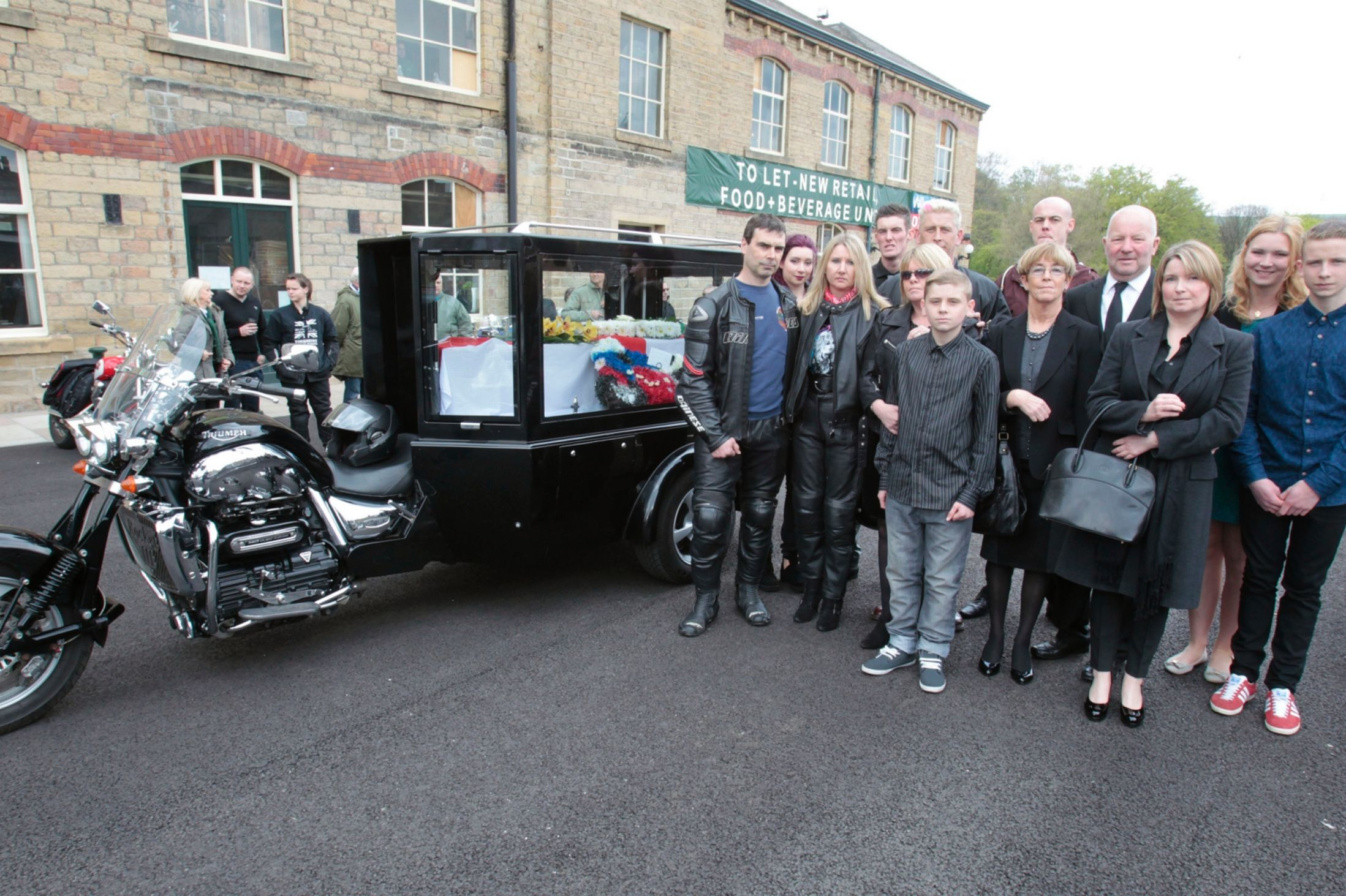 Biker makes final journey in Triumph Rocket III hearse