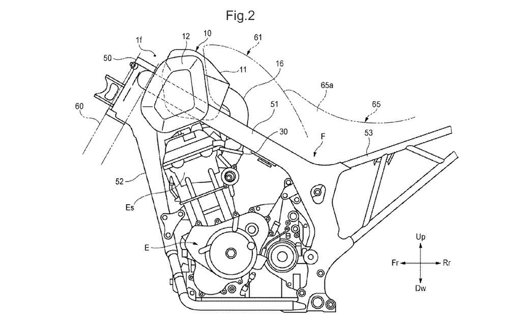 Honda's new retro adventure bike patent