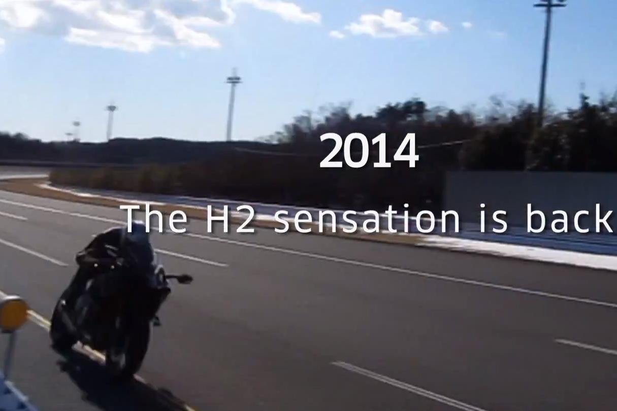 Another glimpse of Kawasaki's new Ninja H2