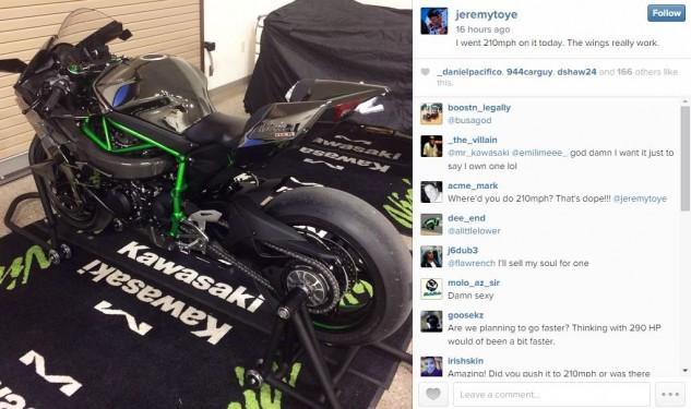 Kawasaki Ninja H2R will go 'quite a bit faster than 210mph'