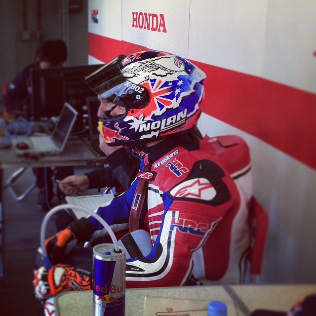 Stoner tests 2015 Honda RC213V