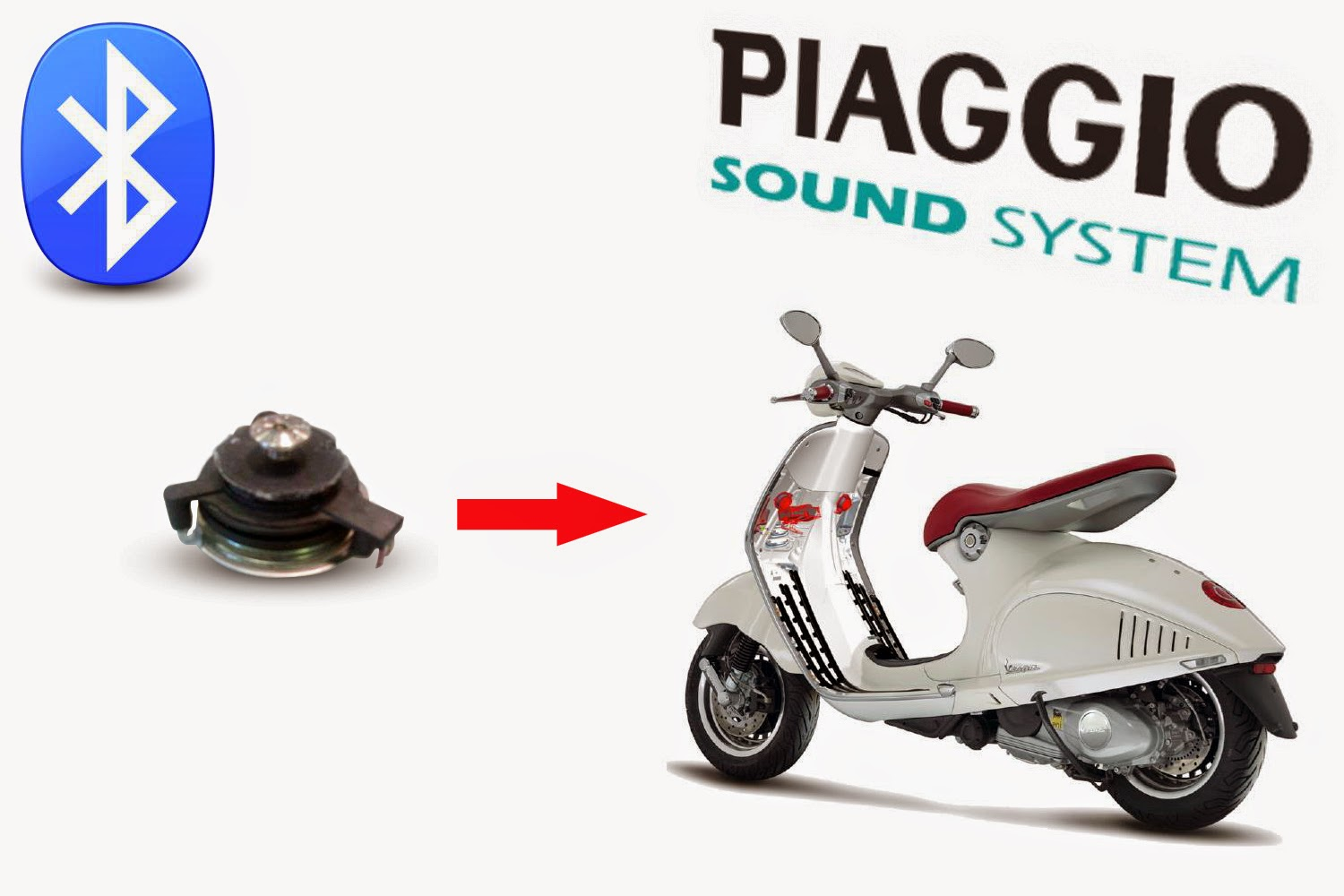New: Bluetooth speakers for Piaggio scooters