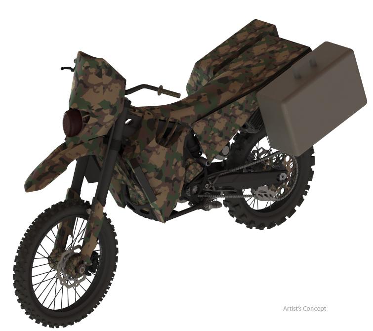 Hybrid 'SilentHawk' concept military bike wins award