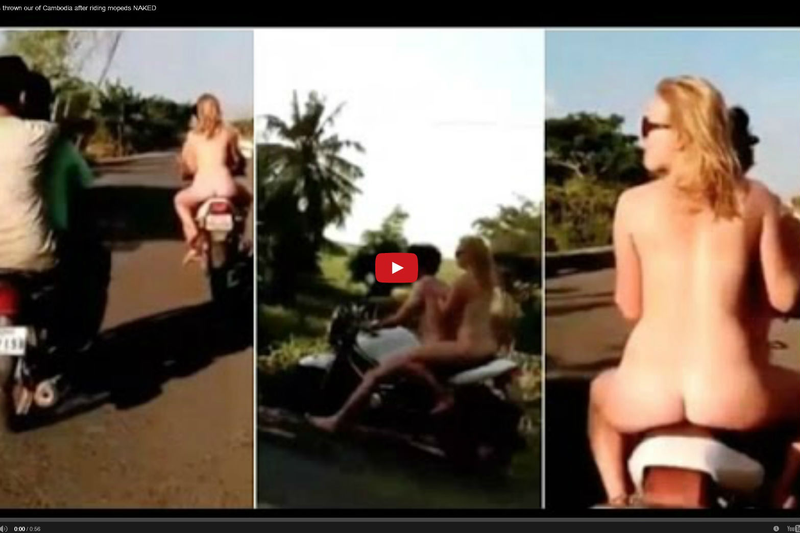 Video: Briton to be deported from Cambodia for riding motorcycle naked