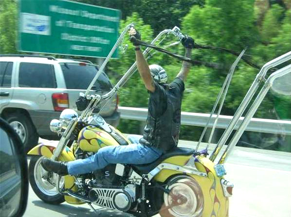 Caption that: Jim was able to turn his torture rack into a working motorcycle