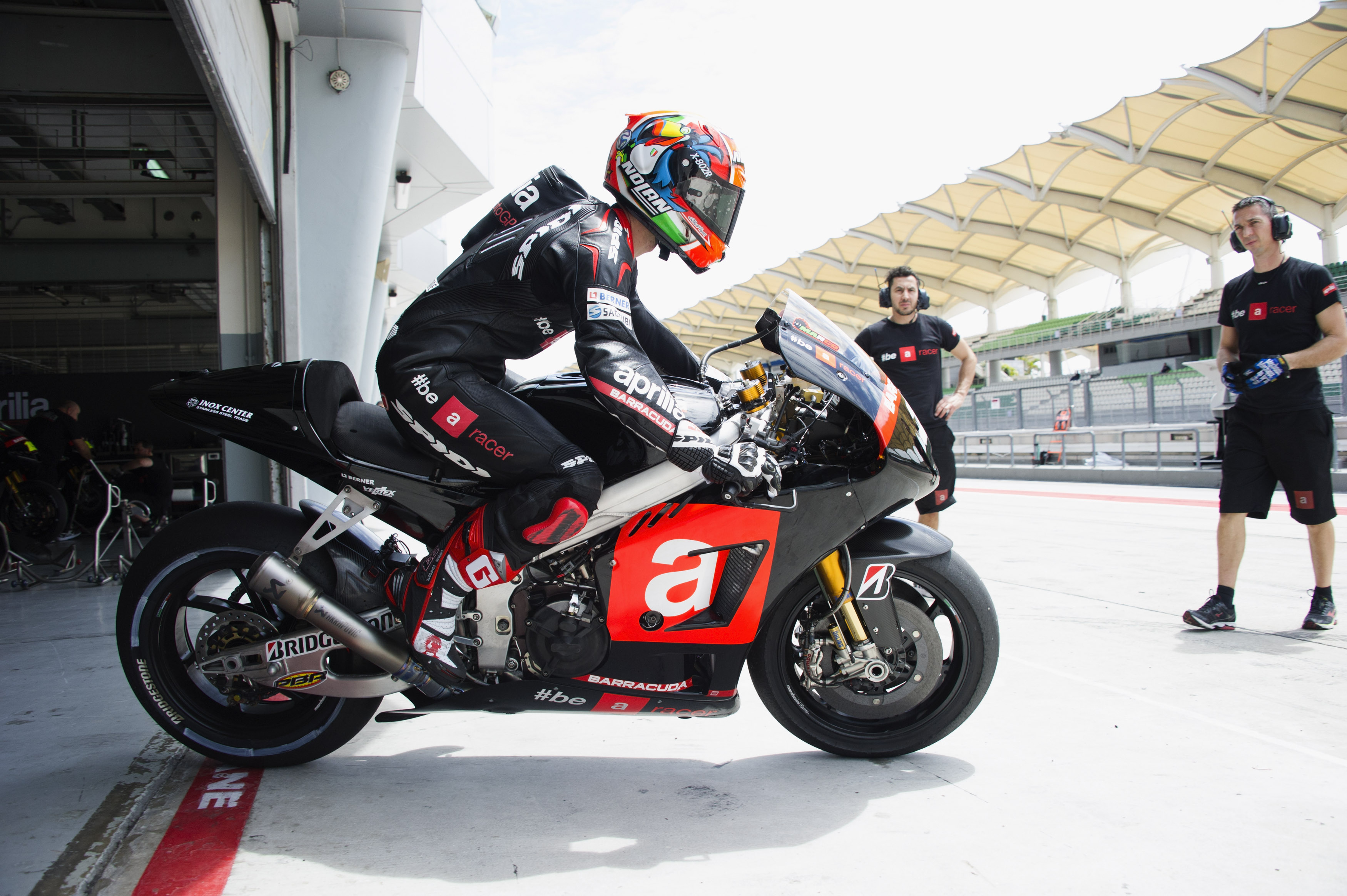 'Positive' second MotoGP test day says Aprilia manager