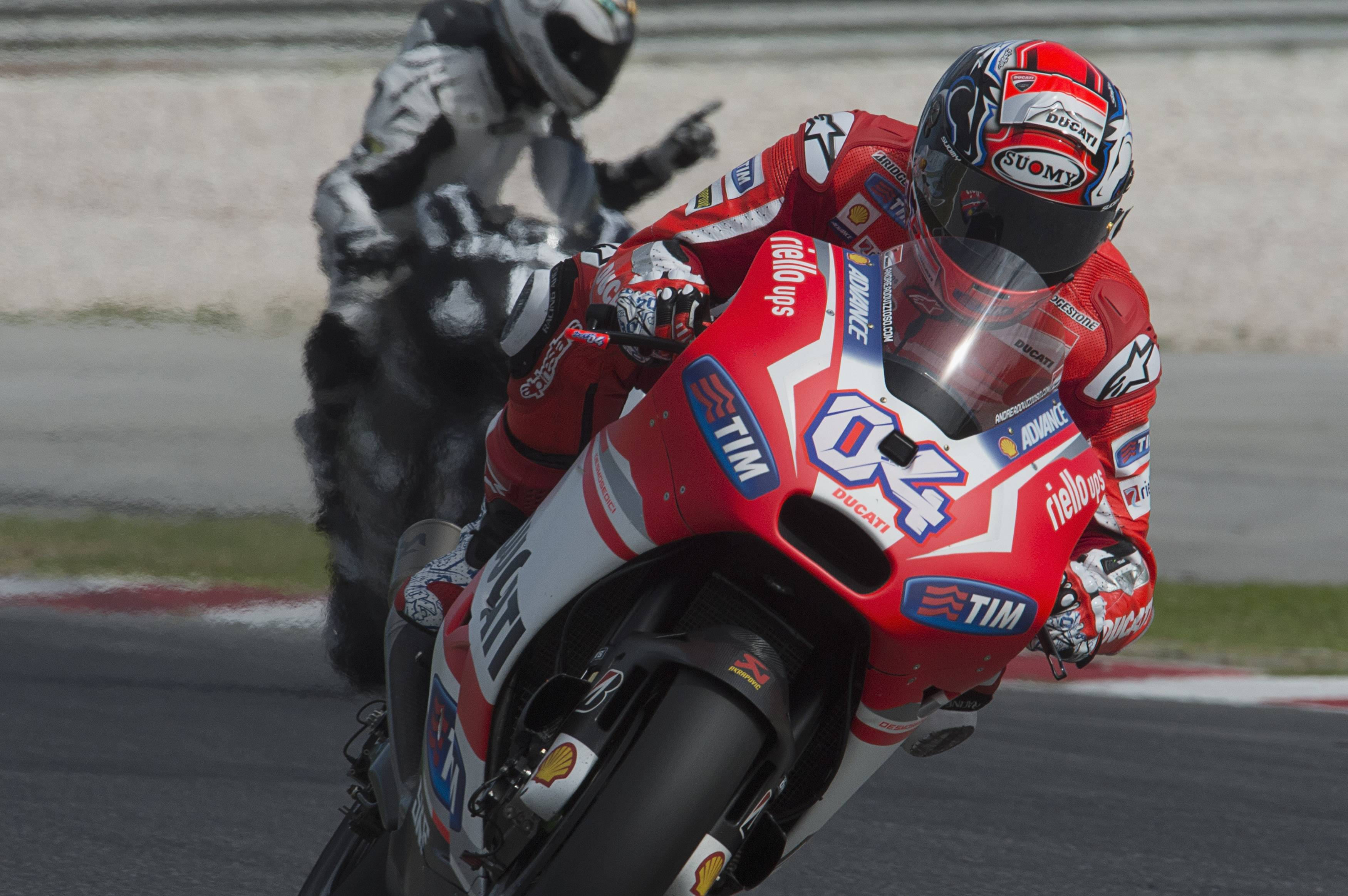 Ducati finish day two second and fifth