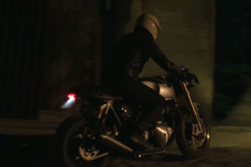 New water-cooled Triumph Bonneville seen in action in David Beckham film
