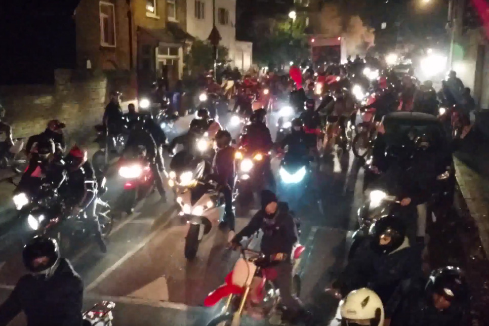 Halloween rideout brings chaos to south London