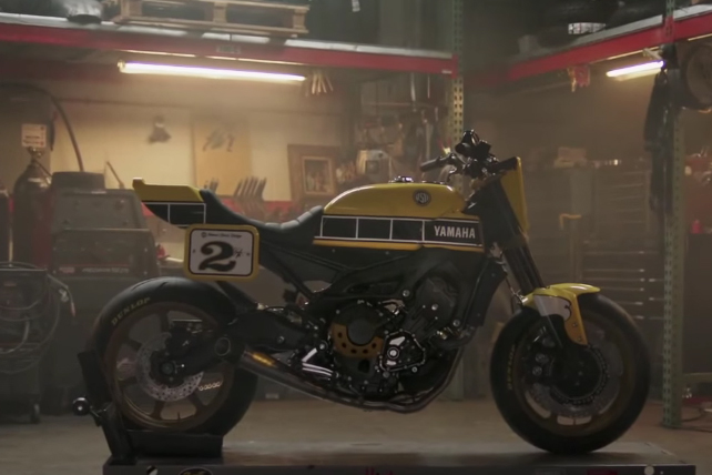 Is Yamaha about to announce a flat-track-style MT-09?