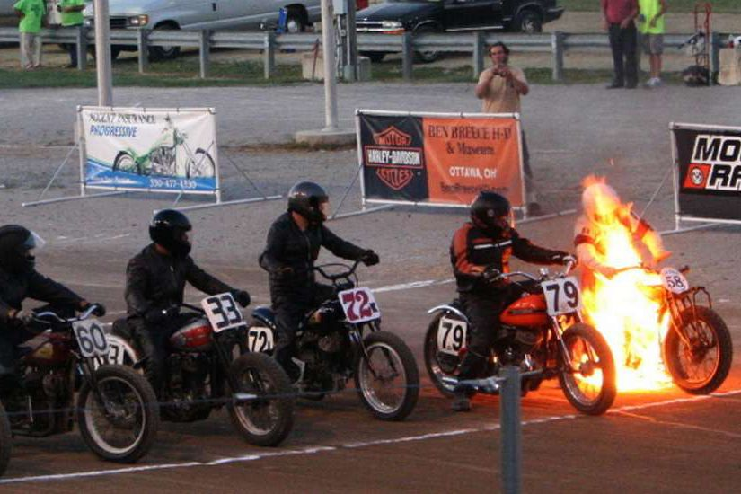 Caption that: It's crucial to get fired up before the start of a race