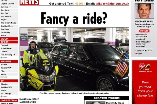 VIP Police biker touts for sex online in uniform