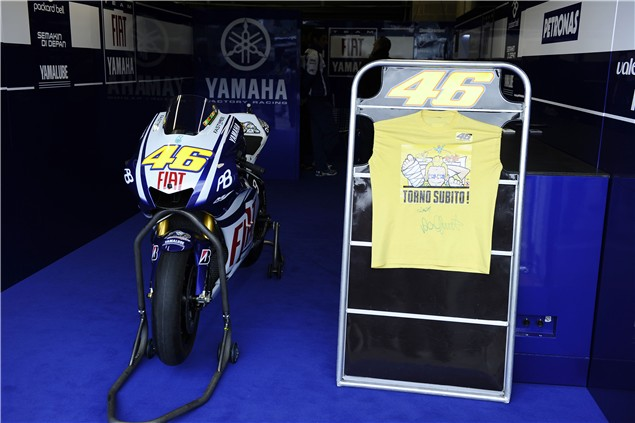 Rossi's Silverstone message to his fans