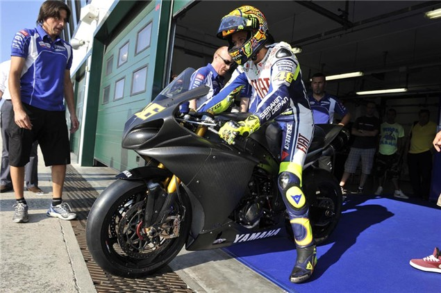Rossi completes first test at Brno