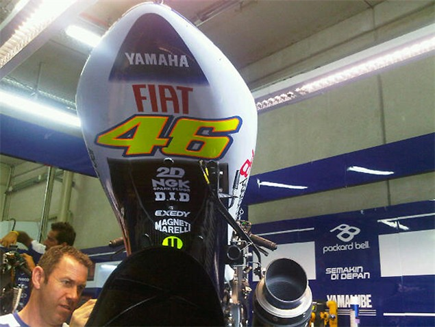 New look for Rossi's M1 at German MotoGP