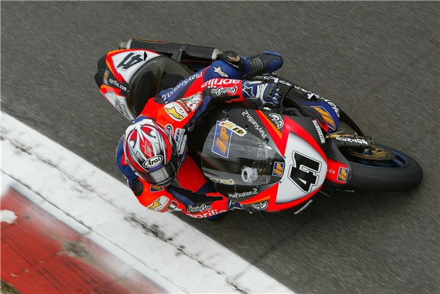 Haga back at Aprilia WSB in 2011