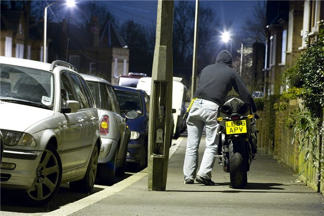 Motorcycle Theft - There for the taking