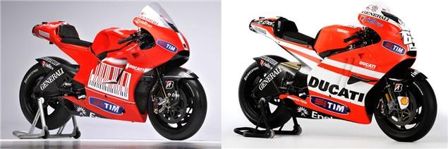 Ducati Desmosedici GP10 vs. GP11