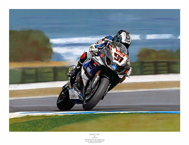Haslam's first WSB win immortalised in paint