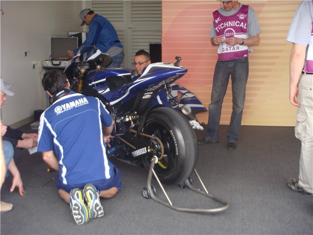 Behind the scenes in Qatar