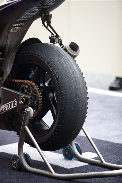 The tyre Lorenzo took to victory