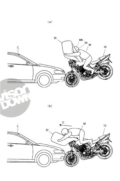 Honda developing next-generation bike airbags