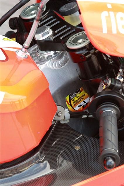 Aluminium chassis for Rossi's Ducati
