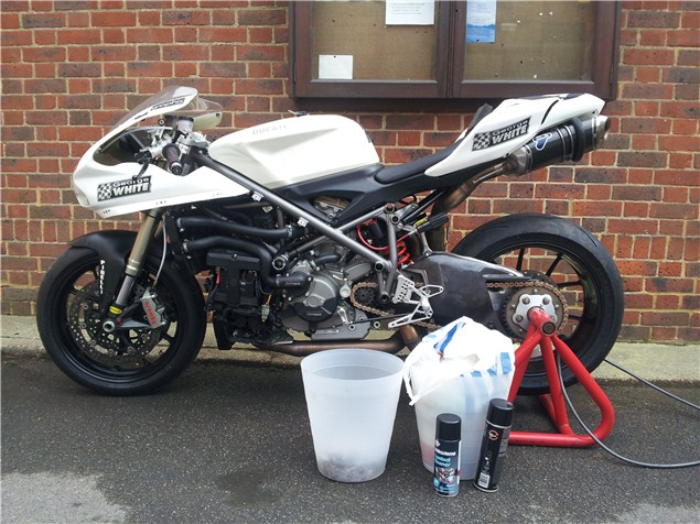 848 stripped and prepped for Silverstone