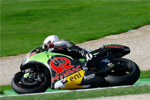 Checa testing Ducati GP12 today