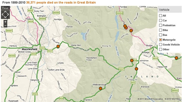BBC publishes map of every UK road death
