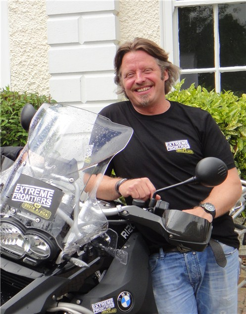 Boorman riding across South Africa for documentary