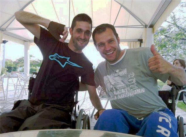 Lascorz smiling in first post-crash photo