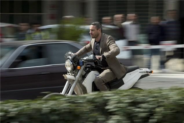 James Bond rides a Honda in Skyfall