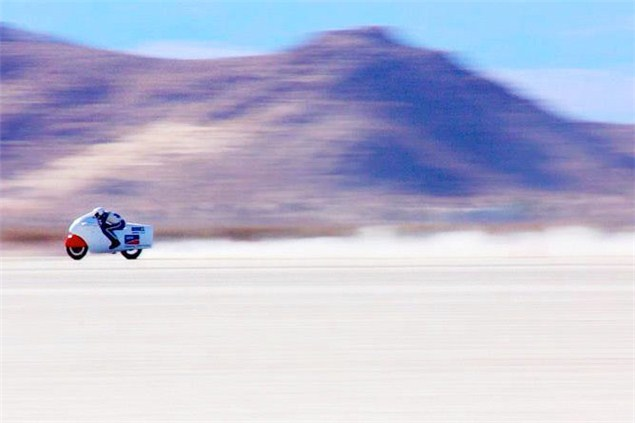 Electric motorcycle land speed record broken